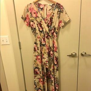 Floral romper- dress